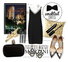 """""""Trend: Cocktail dress"""" by laurenleigh-bee on Polyvore featuring FOOTPRINTS, Topshop, Bomedo, Illamasqua, Maison Michel, Bling Jewelry, Alexander McQueen, Jimmy Choo and Bobbi Brown Cosmetics"""