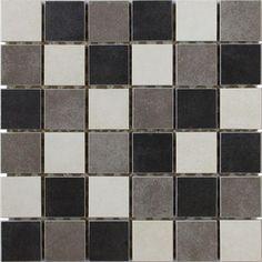 "Concrete Random Mosaic A 12"" x 12"""