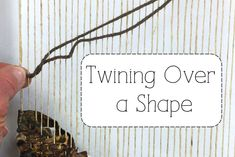 Video- How to Twine Yarn- A nice touch when you're weaving a tapestry.