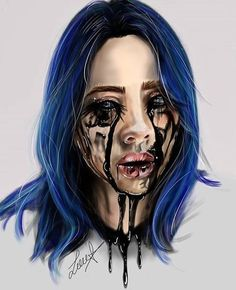 Pin by sophia balderama on b i l l i e in 2019 disegno arte, billie eilish, Billie Eilish, Shadowhunters, Celebrity Drawings, Celebrity Pics, Maquillage Halloween, Aesthetic Wallpapers, Art Girl, Art Sketches, Celebrities