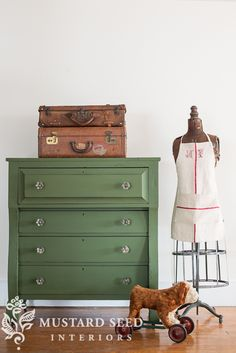 empire dresser painted in MMS Milk Paint Boxwood | miss mustard seed