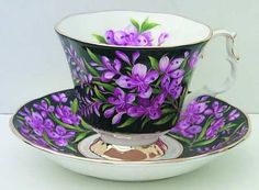 Royal Albert Provincial Flowers Footed Cup & Saucer Set