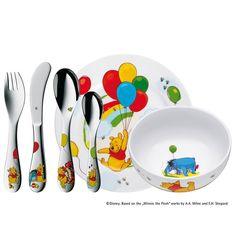 WMF Kinderbesteck-Set, 6-tlg. »Winnie the Pooh« Jetzt bestellen unter: https://moebel.ladendirekt.de/kueche-und-esszimmer/besteck-und-geschirr/besteck/?uid=a9327b67-3b39-5068-bafc-62f34a1151ff&utm_source=pinterest&utm_medium=pin&utm_campaign=boards #geschirr #kueche #keine #esszimmer #besteck