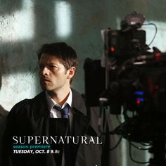 cwnetwork: As a reward for kicking so much ass, here's another exclusive BTS photo for our SPN Family! Thank you all for your continued support!  BLACK TRENCHCOAT!!!!!