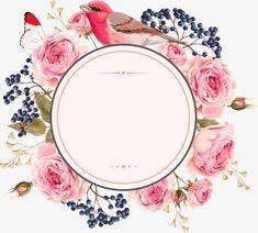 Wedding invitation Flower Euclidean vector - Vector flowers and borders Wedding Invitation Background, Flower Invitation, Floral Wedding Invitations, Art Floral, Floral Flowers, Rose Flowers, Pretty Flowers, Flower Frame, Flower Art