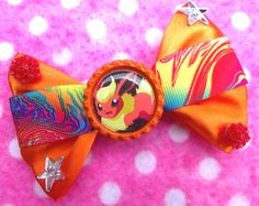 Flareon Eevee Evolution Fire Pokemon Hair Bow by hobbittownjewelry on Etsy