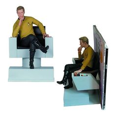 Captain Kirk Bookends: Bridge to Library