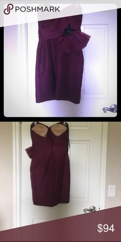 Purple strapless semi formal dress Purple strapless straight fitting semi formal dress. Price is negotiable and I offer a 10% bundle discount off 2 or more items. noir lazaro Dresses Wedding