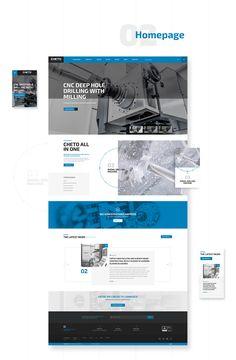 ©heto — website responsive on Behance Best Website Design, Corporate Website Design, Website Design Layout, Web Layout, Layout Design, Portfolio Webdesign, Folders, Minimal Web Design, Custom Web Design