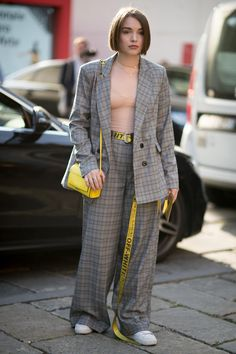 On the street at Milan Fashion Week. Photo: Mooez Ali