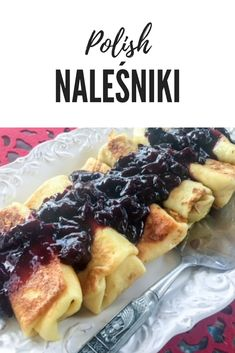 Try Authentic Polish Crepes filled with cheese and topped with fruit - Naleśnik. - Food: Baking & Desserts - Try Authentic Polish Crepes filled with cheese and topped with fruit – Naleśniki z Serem - Crepe Recipes, Top Recipes, Cooking Recipes, Healthy Polish Recipes, Family Recipes, Family Meals, Easy Recipes, Polish Desserts, Breakfast Recipes