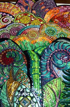Unfurled was created by several mosaic artists. Photo Pam Goode