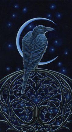 "Crows Ravens:  #Raven ~ ""Messenger at the Gate,"" Diane Kremmer, 2009."