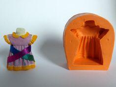 5aa94390a Mini Vestido, sabonete artesanal, molde de silicone, arte de modelar, molde  de