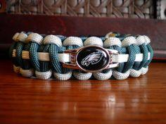 NFL Football Paracord Bracelet Philadelphia Eagles by duckhunter68, $16.95