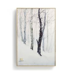 Winter Trees Wall Art by Dean Crouser