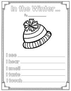 HATS OFF TO WINTER POEMS {FREEBIE} - TeachersPayTeachers.com. grades 1-2 acrostic