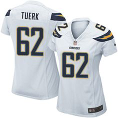Women's Nike Los Angeles Chargers #62 Max Tuerk Limited White NFL Jersey