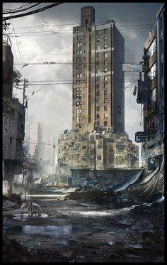 Abandoned city by Darius Kalinauskas | Architecture | 2D | CGSociety