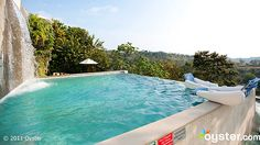 Gaia Hotel And Reserve The luxurious and well-designed pools at the Gaia Hotel and Reserve are tucked into the hillside of a 14-acre nature reserve, so magnificent views are surely familiar here.