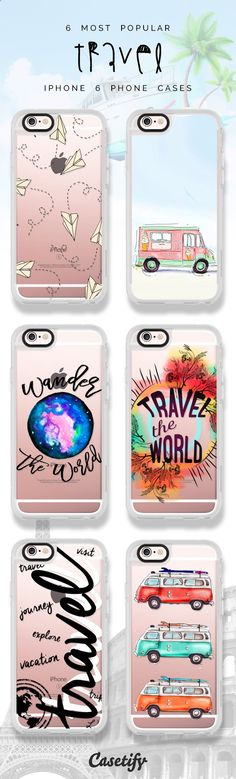 6 most popular travel iPhone 6 protective phone case designs | Click through to see more iPhone phone case ideas >>> www.casetify.com/... #wanderlust | Casetify