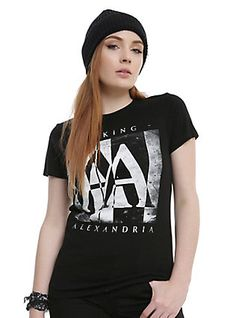 Asking Alexandria Album Girls T-shirt, BLACK