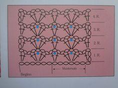 Makkelijk patroon voor een rechte sjaal.