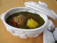 Aguadito de Pollo – Chicken and cilantro soup to warm your body.