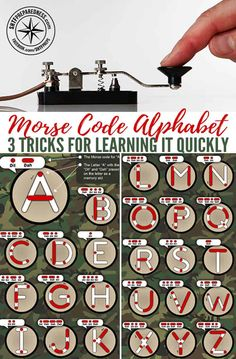 Morse Code Alphabet - 3 Tricks for Learning It Quickly — When prepping for a survival situation, many people think of battery operated radios as being a safe option for communication. This could be the case, but in the event that you need to communicate Wilderness Survival, Camping Survival, Survival Prepping, Survival Skills, Survival Gear, Emergency Preparedness, Tactical Survival, Outdoor Survival, Doomsday Survival