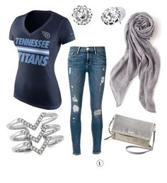 """""""Tennessee"""" by tiffany-volkerding on Polyvore featuring NIKE, Frame Denim and Stella & Dot"""