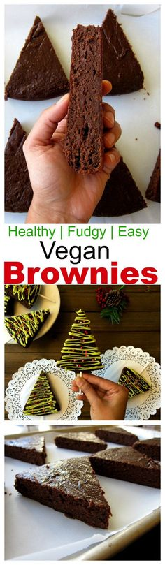 healthy vegan brownies is a great swap for indulging ones. These are so chocolaty and fudgy without use of processed flour or sugar. Must try this festive season and otherwise too.#vegan