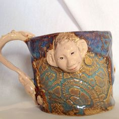 A personal favorite from my Etsy shop https://www.etsy.com/listing/225424385/silly-little-sea-fairy-mug-in-blues-and
