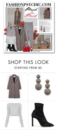 """""""Plaid, Plaid And More Plaid - fashionpsychic.com"""" by fashionpsychic on Polyvore featuring MANGO, Balmain, Faith Connexion, Jimmy Choo and Forever 21"""
