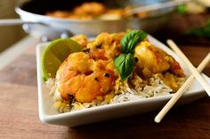 Receta de gambas al curry con Thermomix
