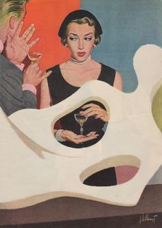 """Robert Hilbert illustration for the Today's Woman story """"The Vacant Face of Love"""", 1951"""
