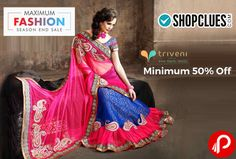 Shopclues Maximum #Fashion #SeasonEndSale is offering Minimum 50% off #Triveni #Sarees Collection.   http://www.paisebachaoindia.com/triveni-sarees-collection-minimum-50-off-eoss-sale-shopclues/