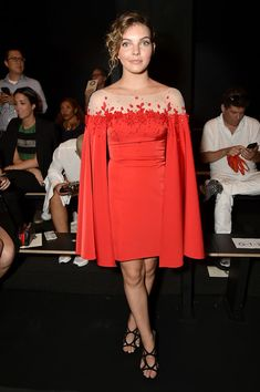 Actress Camren Bicondova attends the Lanyu fashion show during the September…