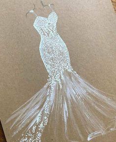 Mermaid Wedding, Wedding Dresses, Ideas, Design, Fashion, Drawings, Art Sketches, Artists, Bride Dresses