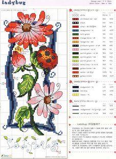 1 of 4 cute cross stitch designs