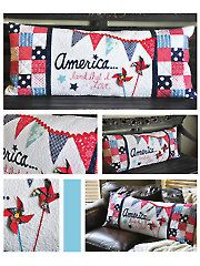America... Land That I Love Bench Pillow Sewing Pattern from AnniesCraftStore.com. Order here: https://www.anniescatalog.com/detail.html?prod_id=123609&cat_id=1695