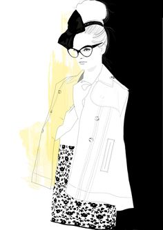 Fashion Illustrations - Collection of fashion illustrations from around the web from rough croquis to designer skecthes. Be inspired, study techniques or submit your own fashion art. Illustration Mode, Fashion Illustration Sketches, Fashion Sketches, Fashion Drawings, Vintage Kids Fashion, Cute Kids Fashion, Retro Fashion, Moda Fashion, Fashion Art