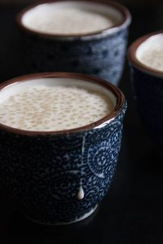 Pearls and vanilla for dessert - Beautiful ladle , Tapioca Dessert, Creme Dessert, Tapioca Pudding, 200 Calories, Bowl Cake, French Desserts, Easy Casserole Recipes, Healthy Breakfast Recipes, Coco