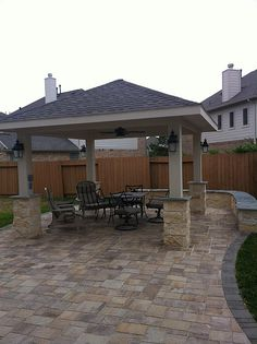 Pergola project in Pearland, TX | Belgard pavers, natural st… | Flickr
