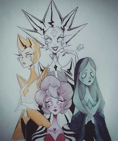 The Great Diamond Authority + Tim Burton Style = 💖💙💛♥ Which Diamond is your fav? - As Diamantes de S. no estilo Tim Burton 💖💙💛♥ Comenta o… Perla Steven Universe, Steven Universe Memes, Tim Burton Art Style, Tim Burton Drawings, Arte Sketchbook, Universe Art, Art Reference, Art Drawings, Anime