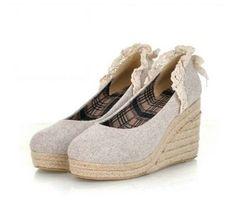 Hansenneretro  Lace high-heeled platform shoes