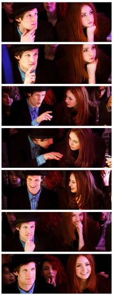 Matt Smith and Karen Gillan. Every single thing about this image set.
