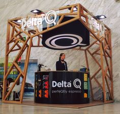 DELTA STAND EN WOBI Exhibition Stand Design, Exhibition Stall, Pop Design, Display Design, Stage Design, Store Signage, Japanese Graphic Design, Shop Interiors, Stalls
