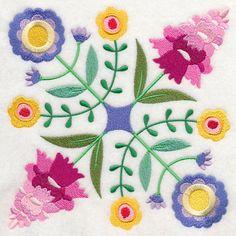 Floral Fantasy design (J7569) from www.Emblibrary.com