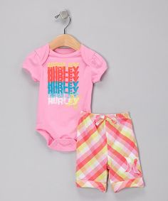 Hurley onesie and board shorts <3