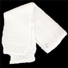 Echarpe écrue en laine